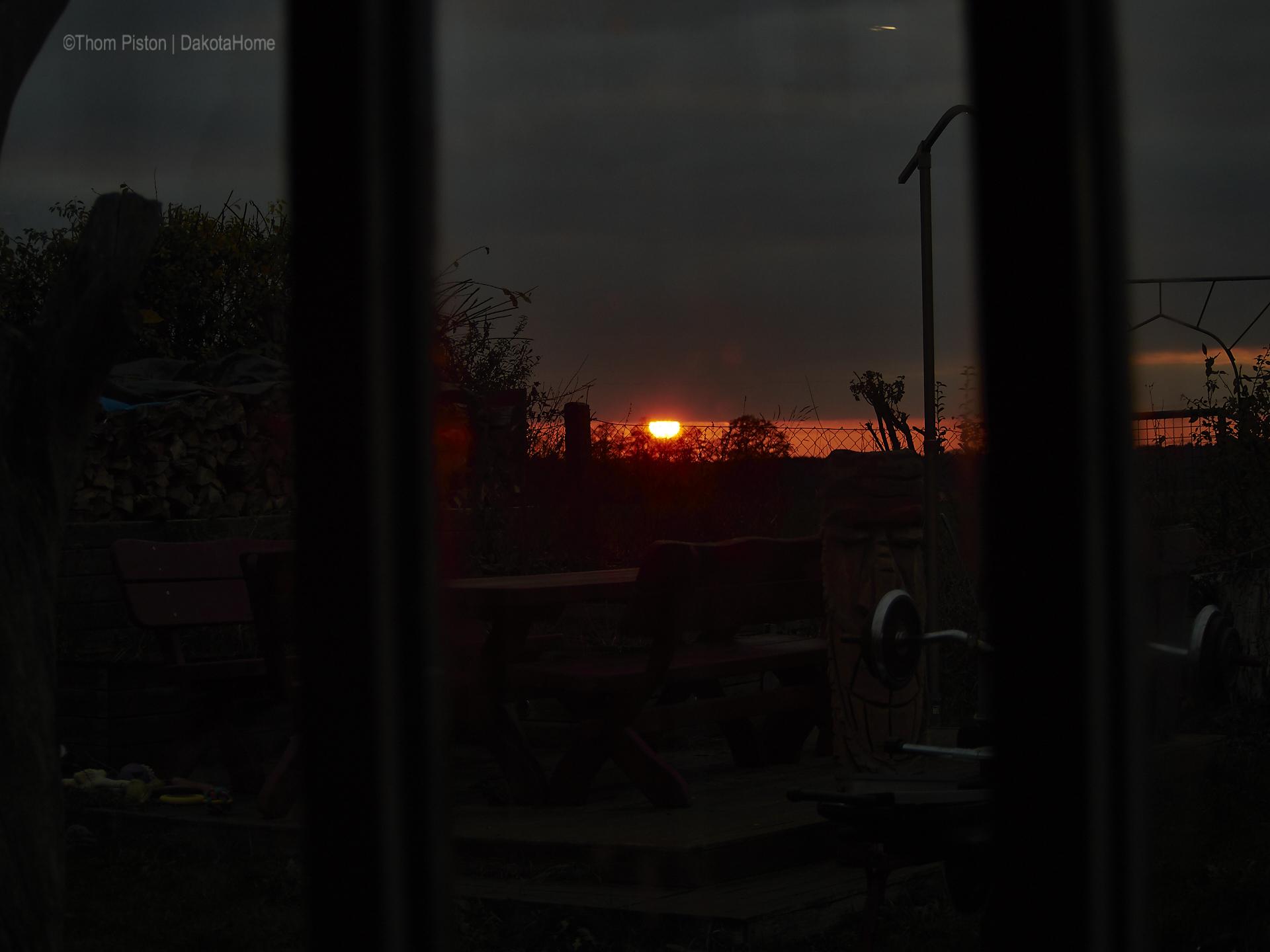 sonnenuntergang mitte november dakota home