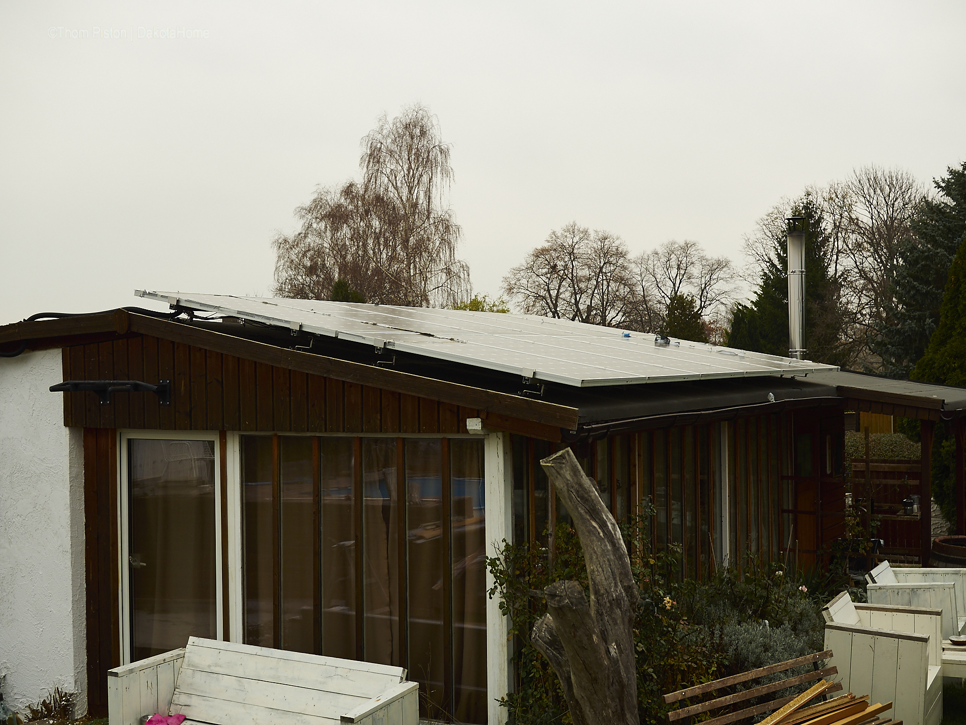 Solar | Photovoltaik Anlage am Tinyhouse in Brandenburg