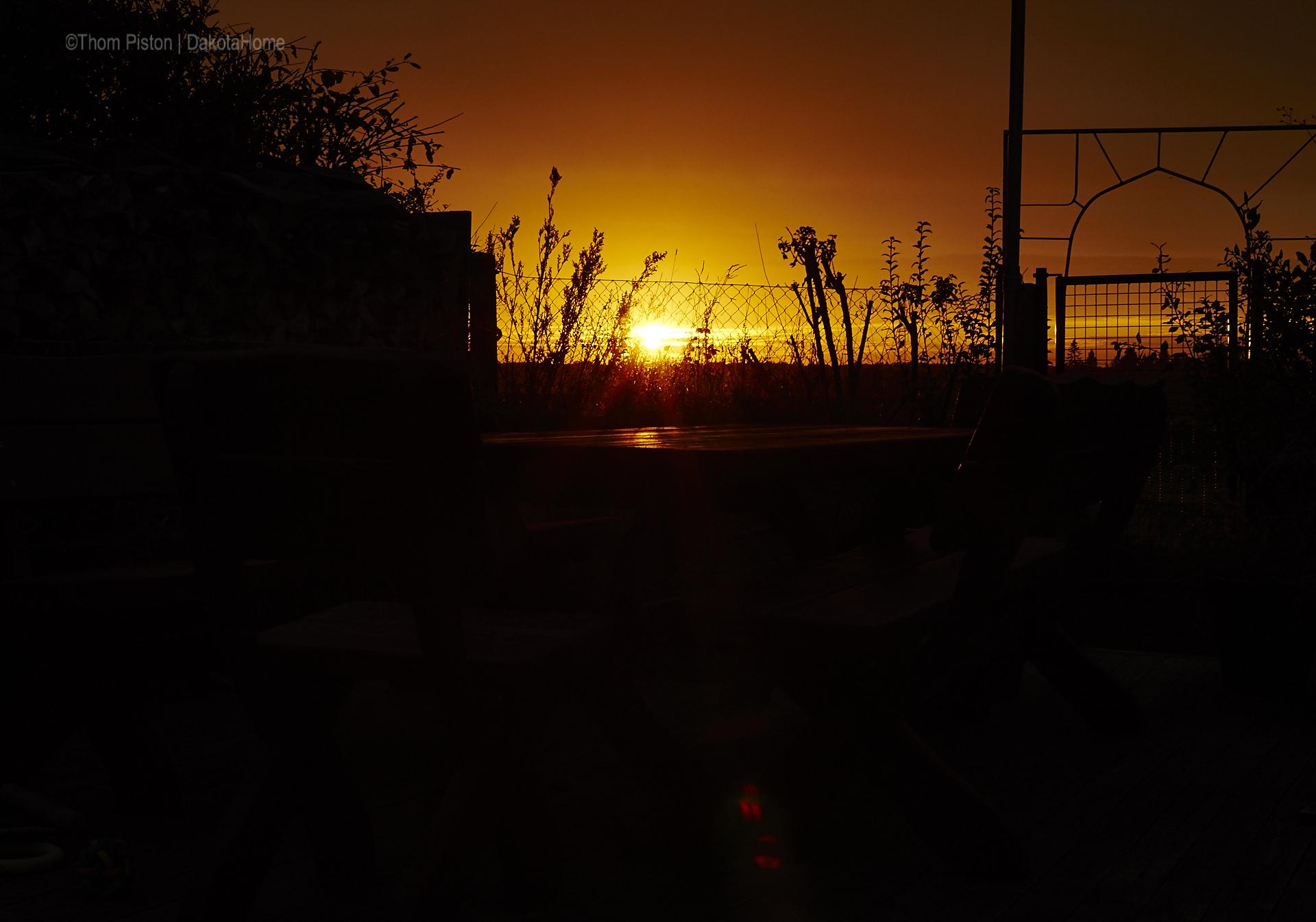 Sonnenuntergänge , november 2018, dakota home