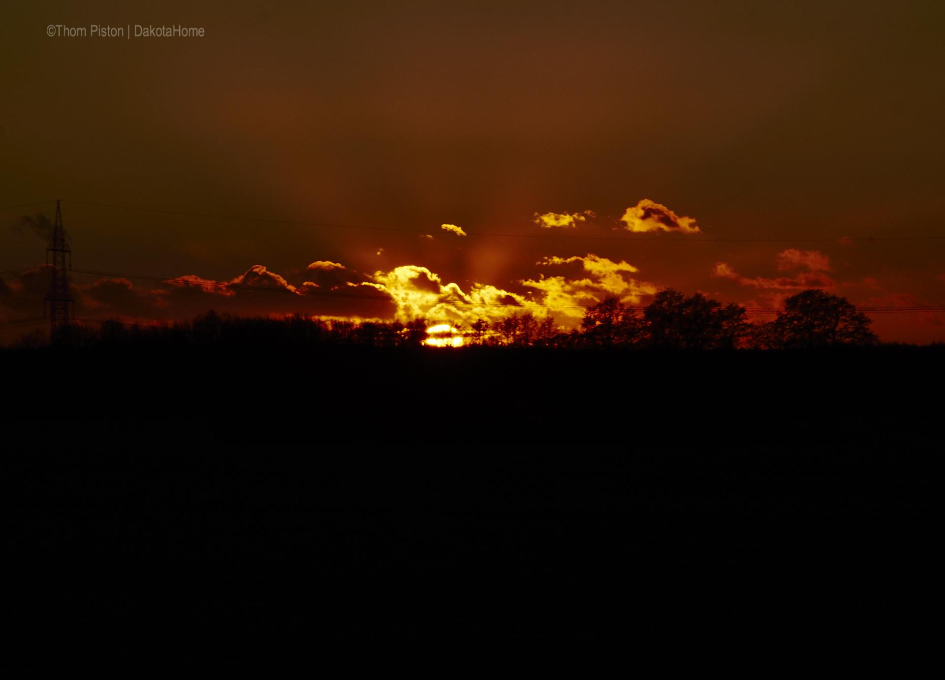 Sonnenuntergänge im Januar 2019 at Dakota Home Mitte Januar 2019