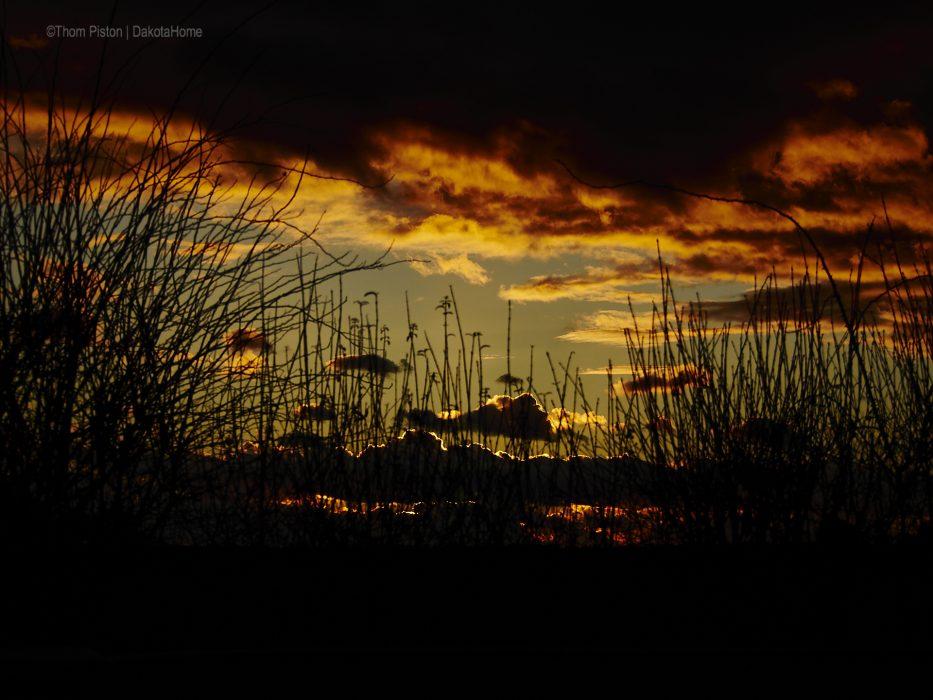 Sonnenuntergang, Brandenburg, Dakotahome, Februar 2019