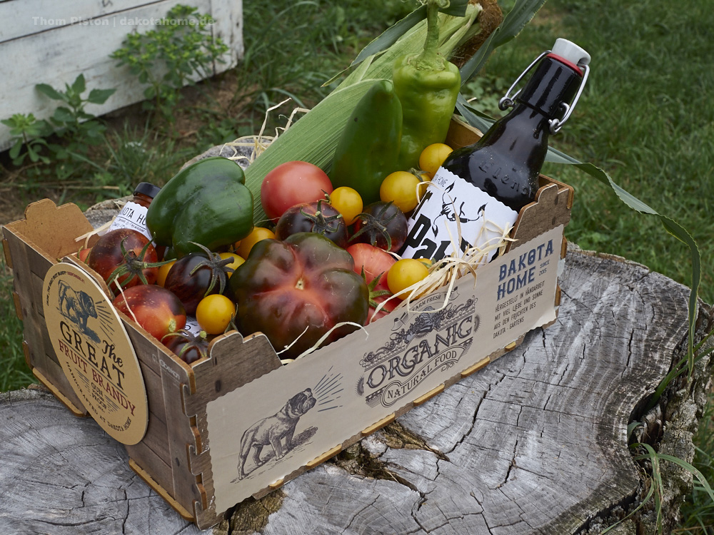 Präsentkorb aus dem Dakota Home für einen Freund der ein Gartenfest machte