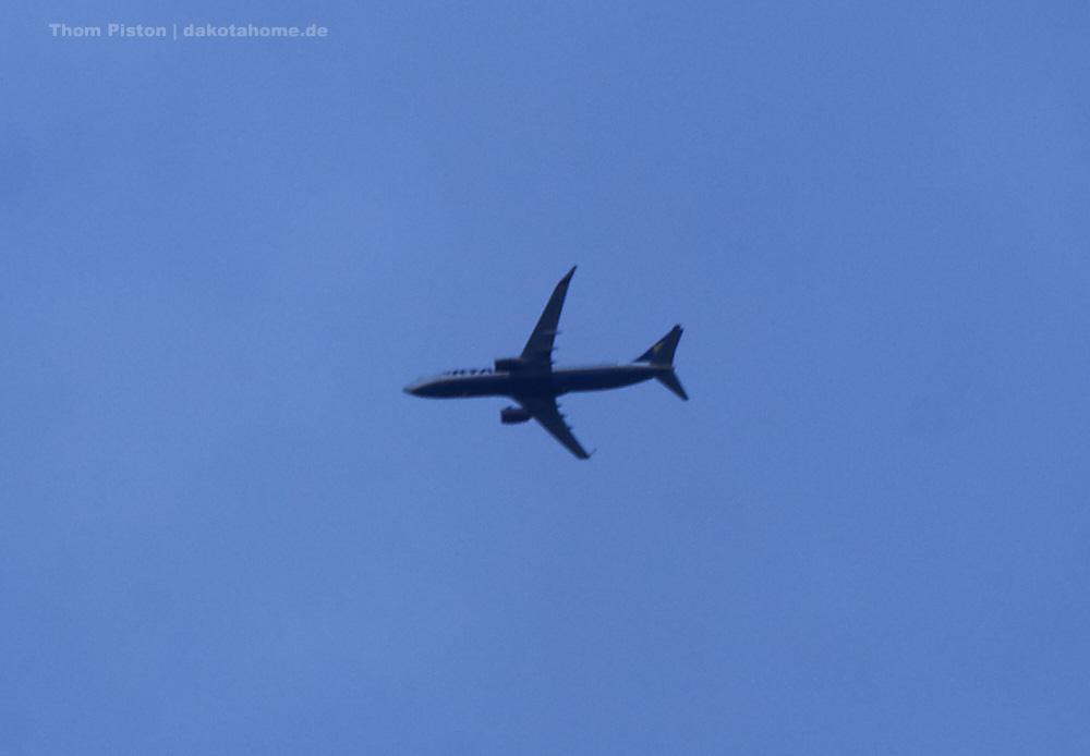 Flugzeuge in der Warteschleife für den Anflug nach Berlin