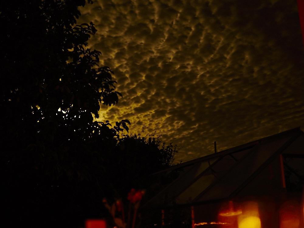 ..die Sonne ging und der Abend am Dakota Home rückt an..