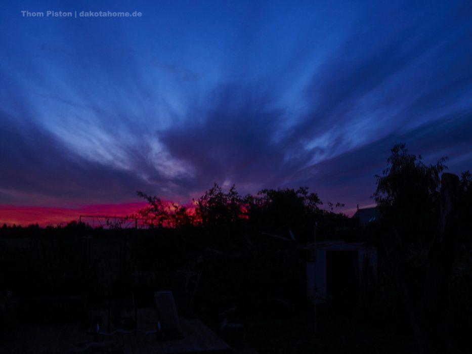 Sonnenuntergang Dakota Home, Ende September 2019