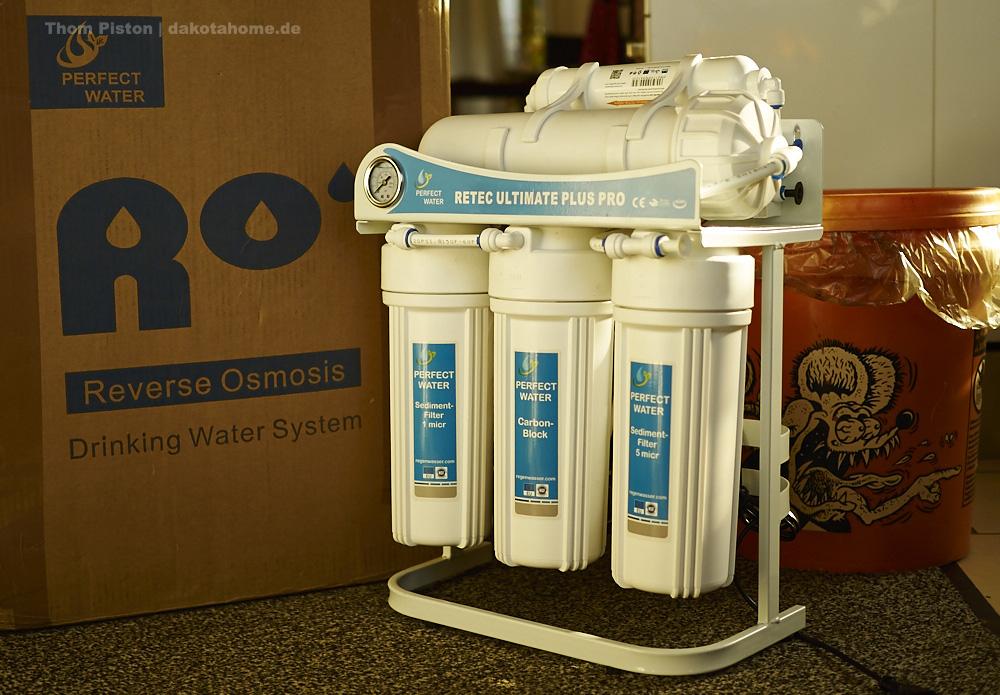 Reverse Osmosis Anlage, Chillis, Pilze und Frost