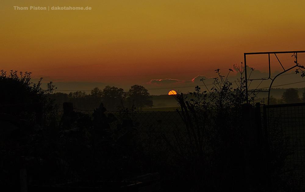 Sonnenuntergang im November am Dakota Home