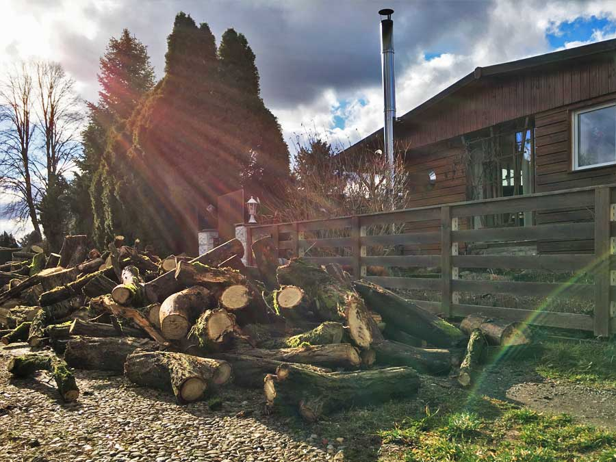 Zeitstress, wollte das Holz vorm Dunkelwerden aufs Grundstück gebracht haben