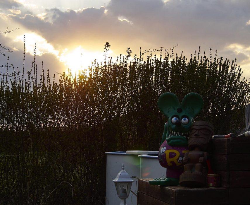 Sonnenuntergang Ostern 2020, Dakota Home, Brandenburg