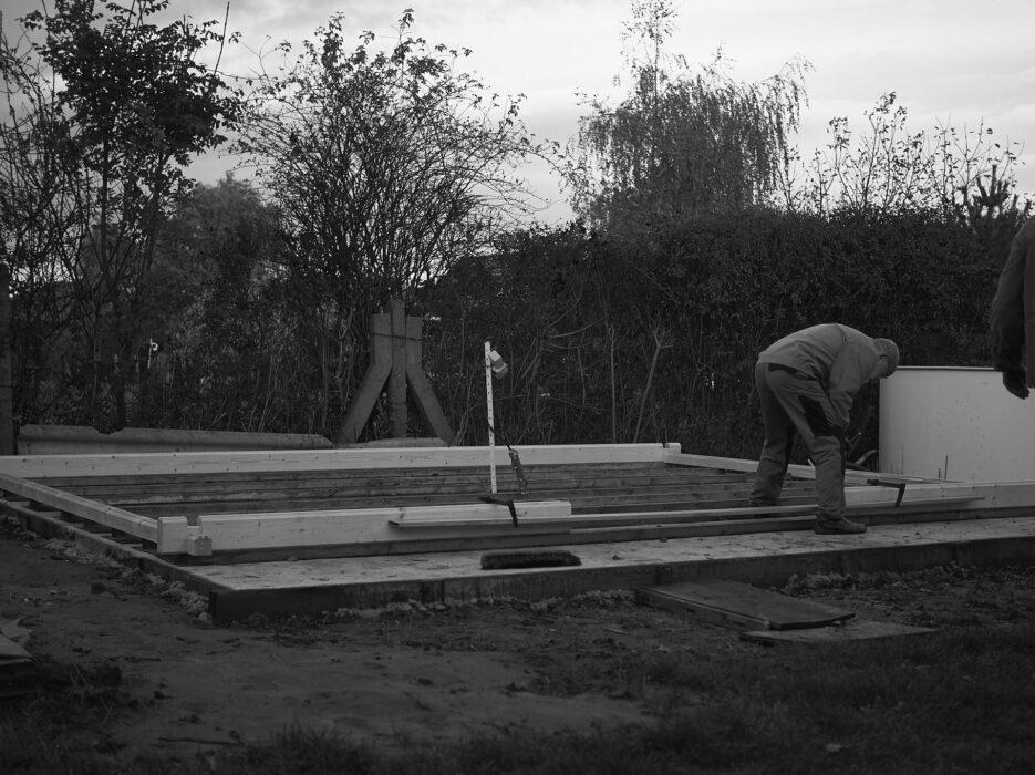 Aufbau des Blockhauses