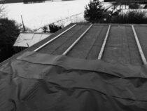 Kalt, Schnee & das Ponderosa Dach muss gerichtet werden…