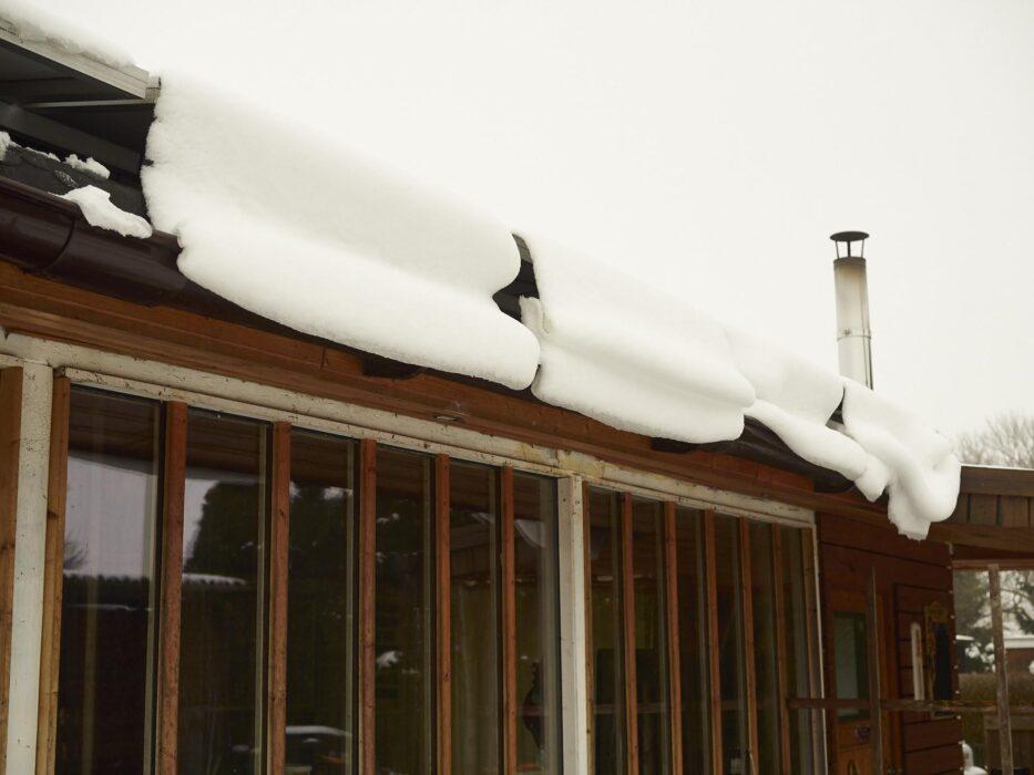 Schnee im Februar am Dakota Home