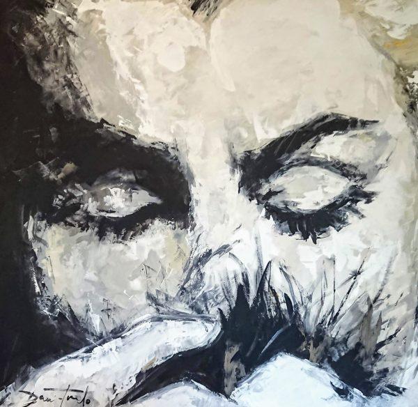 M.M Norma Jean ACRYLIQUE sur toile 100X100 cm TIRADO 2018 TIRADO