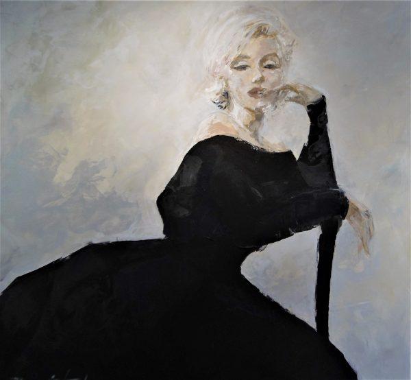 Norma Jeane 100x100cm acrylique sur toile