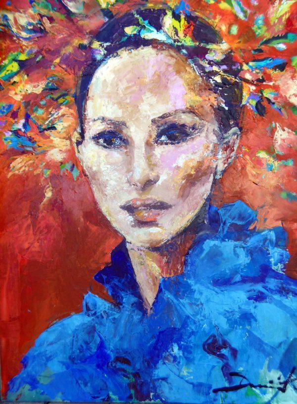 1-Suzanna ou la Venezuela abondante 100x80cm acrylique sur toile 2019