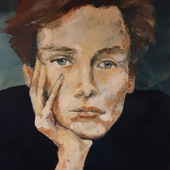J.K ll -acrylique sur toile 100x100cm
