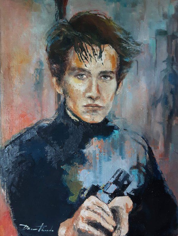 Portrait JK lll -Acrylique sur toile 100x