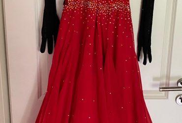 1 Rot/Schwarzes Standardeinzelkleid