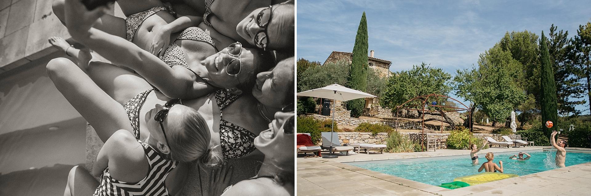 Traumhafte Hochzeit in der Provence. Best Friends. Pool time.