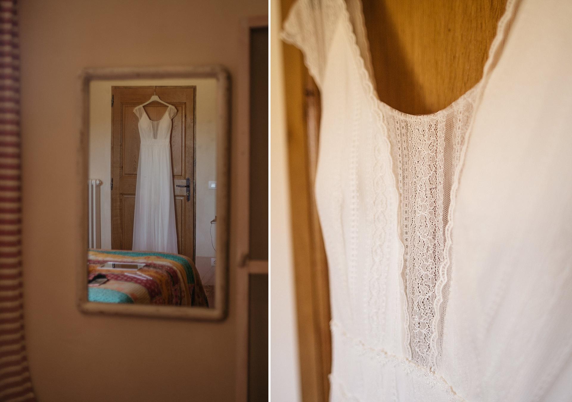 Traumhafte Hochzeit in der Provence. Das Brautkleid.