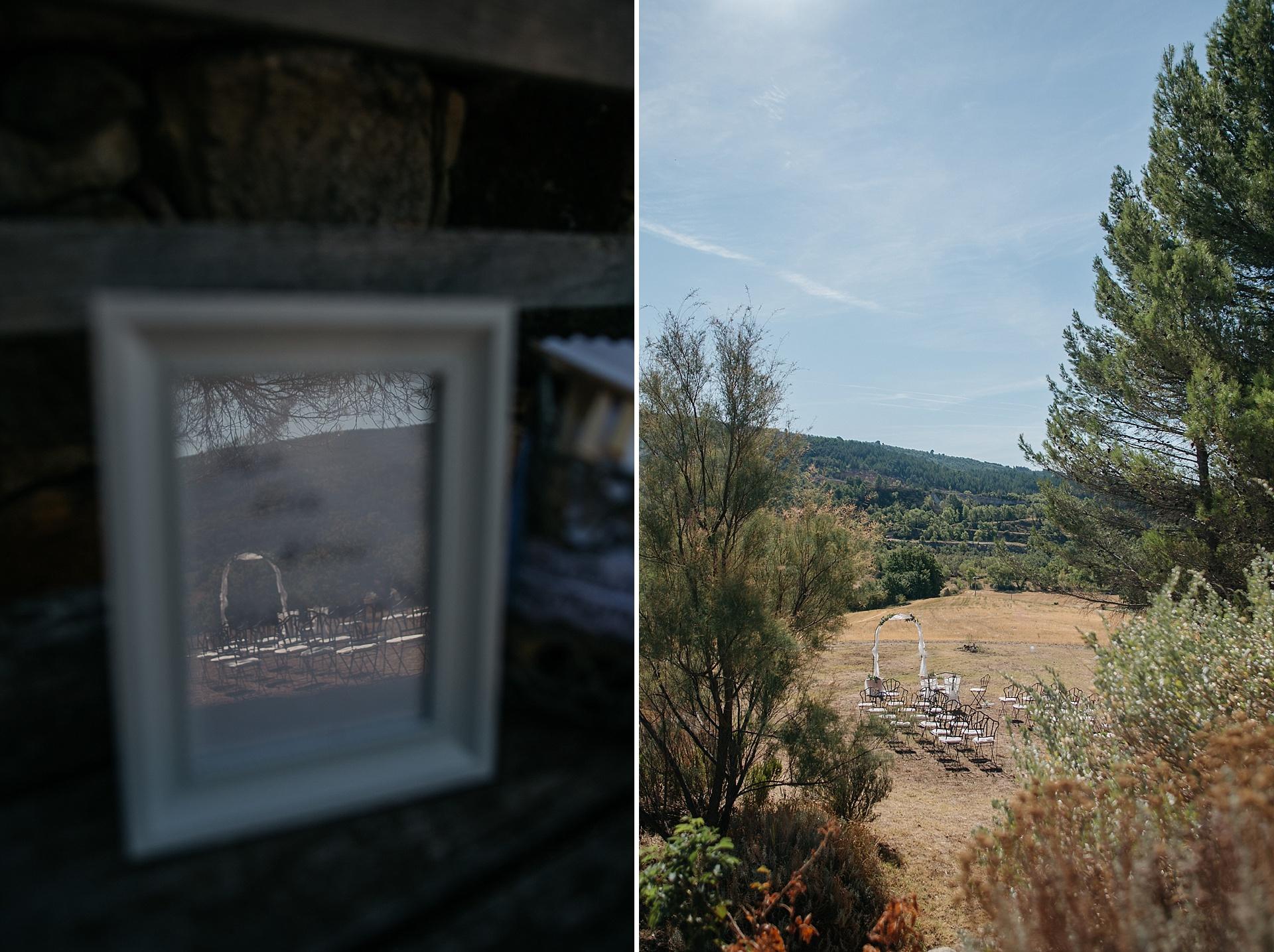 Traumhafte Hochzeit in der Provence. Freie Trauung mit wunderschönen Blick auf die Berge.