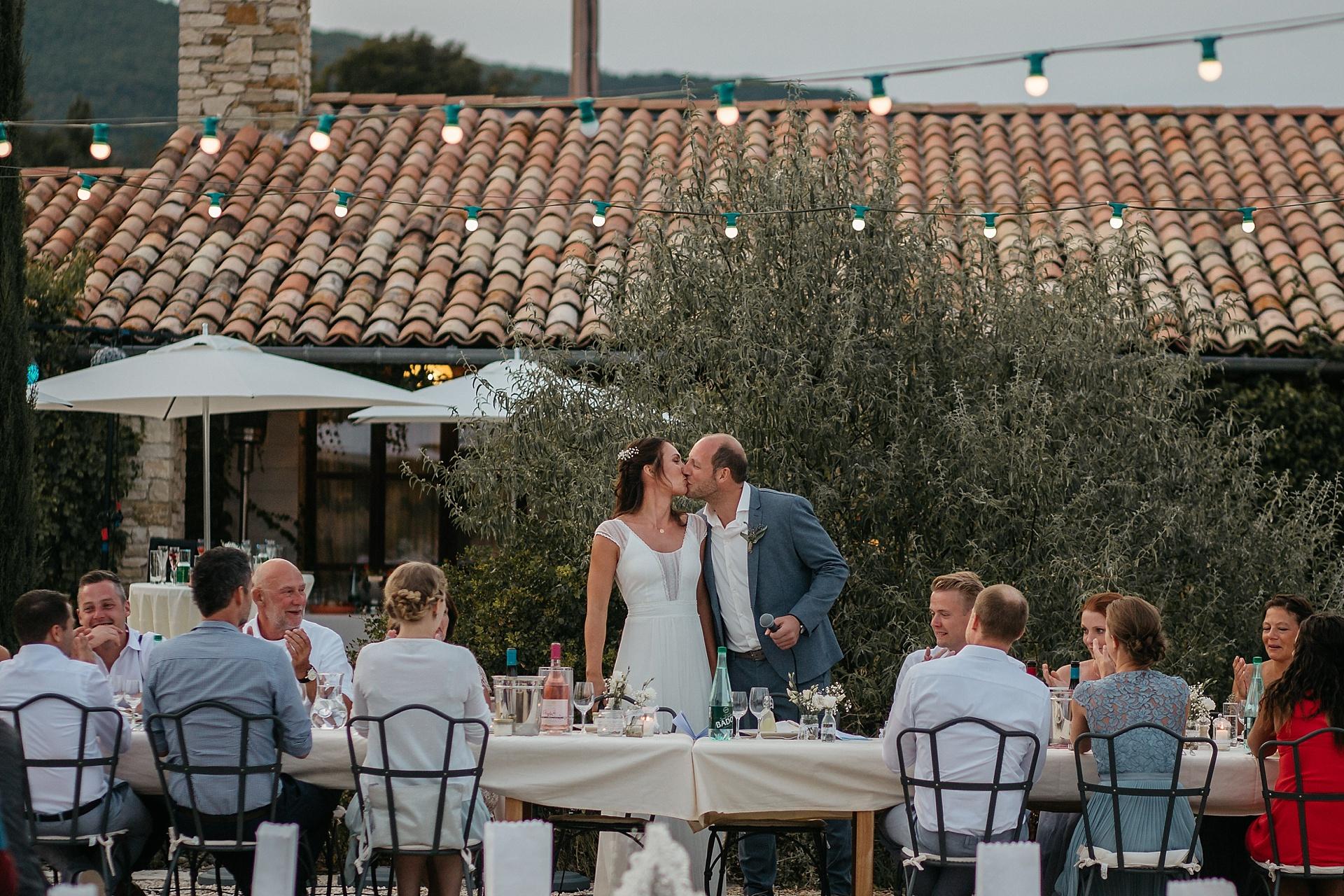 Traumhafte Hochzeit in der Provence. Das Brautpaar.