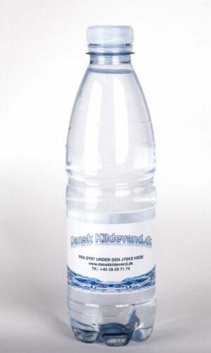 0,50 liter Dansk Kildevand Naturligt Mineralvand