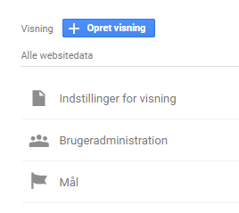 Google analytics opsæt mål