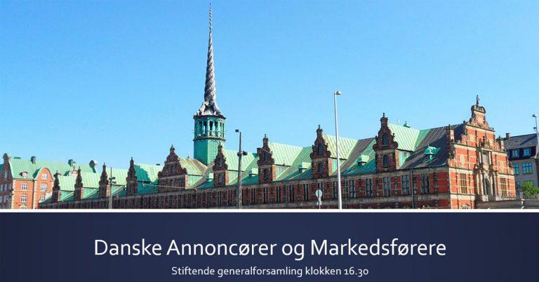 Read more about the article Danske Annoncører og Markedsførere er stiftet