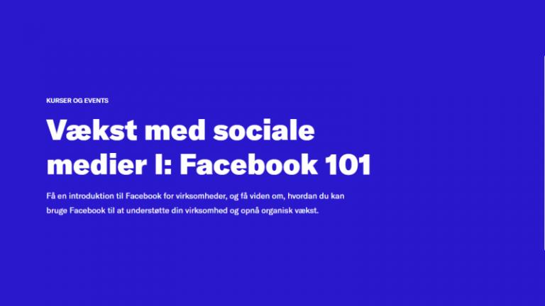 Vækst med sociale medier I: Facebook 101