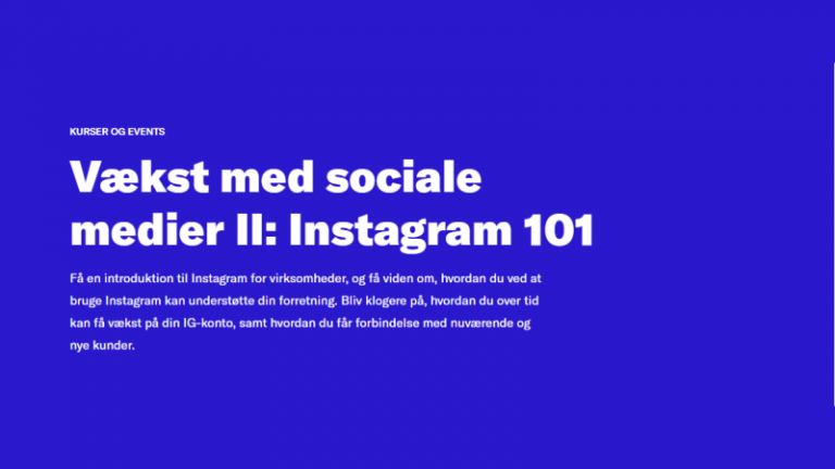 Vækst med sociale medier II: Instagram 101