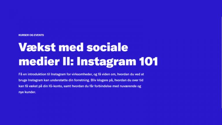 Read more about the article Vækst med sociale medier II: Instagram 101
