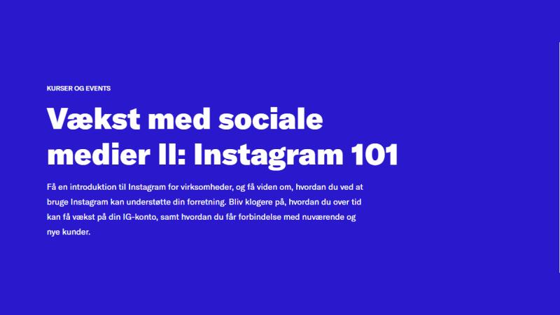 vækst med SoMe 2, Instagram 101