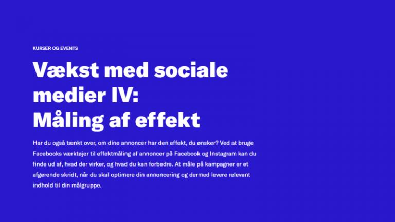 Vækst med sociale medier IV: måling af effekt