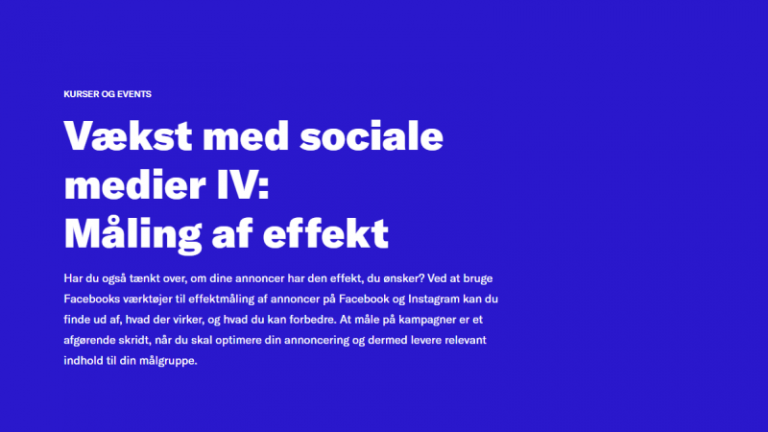 Read more about the article Vækst med sociale medier IV: måling af effekt