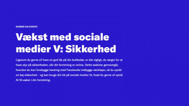 Read more about the article Vækst med sociale medier V: sikkerhed