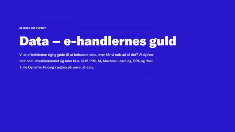 Konference: Data – e-handlernes guld