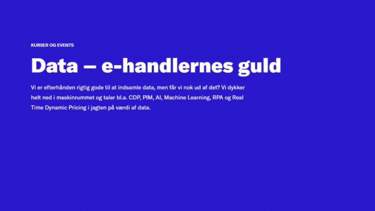 Read more about the article Konference: Data – e-handlernes guld