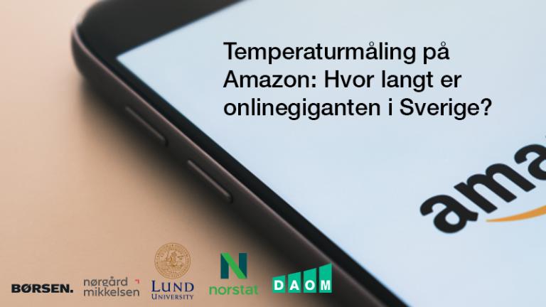 Temperaturmåling på Amazon: Hvor langt er onlinegiganten i Sverige?
