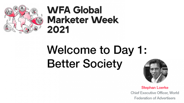 GMW21 – Welcome to Day One: Better Society