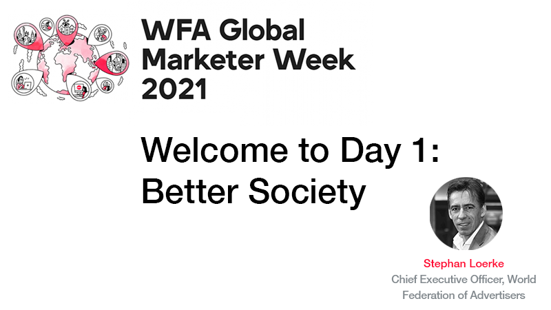 GMW21 Welcome to Day 1 Better Society