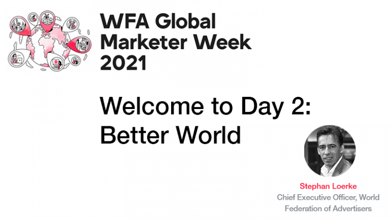 Read more about the article GMW21 – Welcome to Day Two: Better World