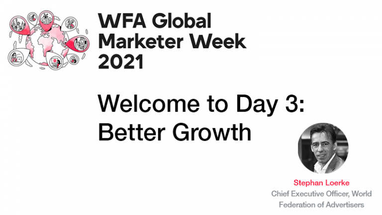 GMW21 – Welcome to Day Three: Better Growth