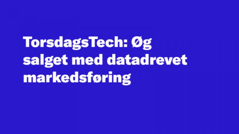 Read more about the article Øg salget med datadrevet markedsføring