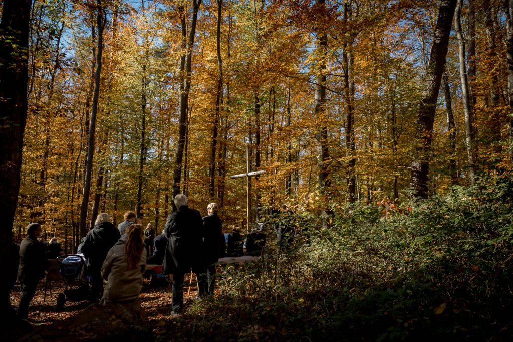 Trauerfeier im Friedwald Lützelhausen, Bestattungsfotografie