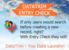 Improving Data Quality - DataTrim Entry Check