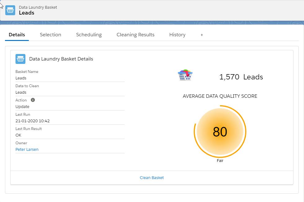Landry Basket Average Score