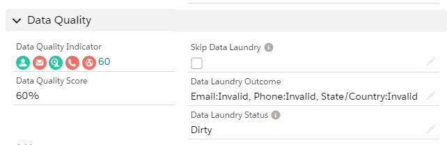 Data Quality Outcome