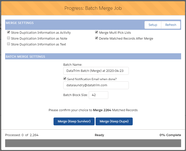 Batch Process -Step 4, Merge