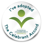 The Celebrant Accord badge from Funeral celebrancy council